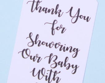 Baby Shower Favor Tags, Baby Shower Tags, Boy or Girl, White Baby Shower Favor Tag, Baptism, Thank You Favor Tag, Kraft Favor Tag, Rustic