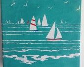 Sailing by. Seaside acryl...