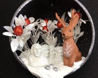 Jackelope at Mount Rushmore Ornament