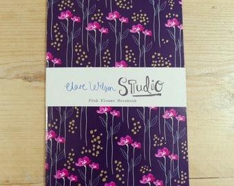 A5 Notebook, Jotter, Sketchbook - Pink Flowers