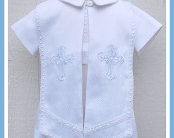 Baptism Outfit for Boy, Boys Christening Outfit, Baptism Romper