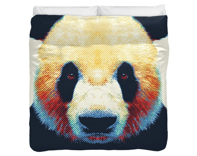 Panda - Colorful Animals Duvet Cover / Comforter