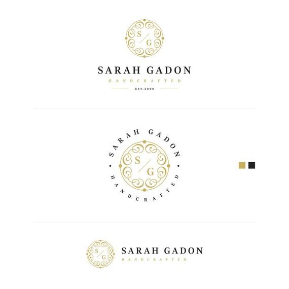 Gold Business Logo, Artist Logo Design, Elegant Logo, Classic Logo, Branding Kit, Watermark on Photos, Business Stamp Logo, Initial logo