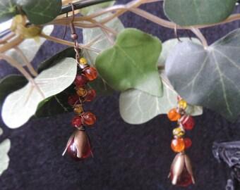 """Earrings """"Red Harvest"""""""