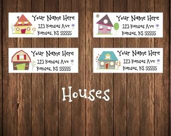 Houses Address Labels, Neighborhood Address Labels, Mailing Labels