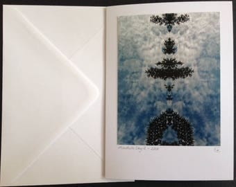 Sky Mandala Large Greetings Card