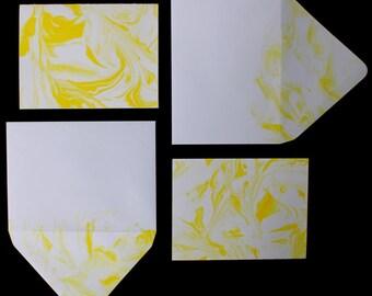 Blank Stationery Set : Sunshine Yellow