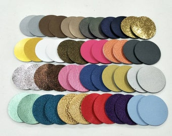 Leather Circles, 35 mm.(3.5 cm.), 50 pcs., (25 Pairs) Mixed Metallic, Leather Circles Die Cut, Circles Shape, Circles Cut Outs,Circles Style