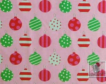 Hang the ornements, fuschia, pink, Michael Miller Fabrics, 6630, Michael Miller Fabrics, multiple quantity cut in one piece, 100% Cotton