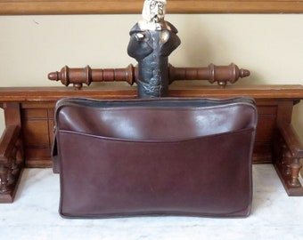 Spring Sale Coach Document Portfolio In Brown ( Mahogany or Mocha) Leather Style No 5225- Made In USA - VGC