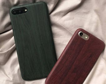 Wood Pattern Brown Green MINIMALIST iPhone 7 case iPhone 7 Plus case iphone 6 case iphone 6 plus case iphone 6s case Plastic soft case