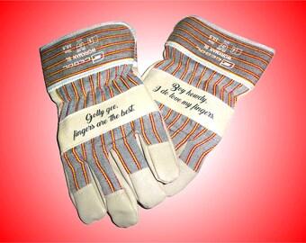 Personalized Gloves, Garden Gloves, Work Gloves, Protective Gloves, Safety  Gloves. Custom