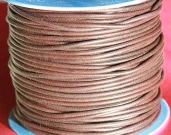 MADE IN SPAIN 6 feet 3mm leather cord, 3mm brown leather cord, 3mm round dark brown leather cord,(3ANITES)