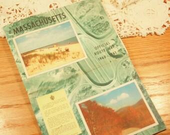 1960-1961 Massachusetts Route Map