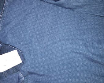 No. 613-fabric cotton ACETATE fluid NON FROISSABLE petrol blue