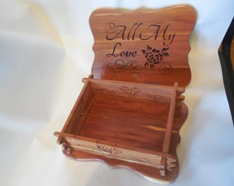 All My Love cedar box