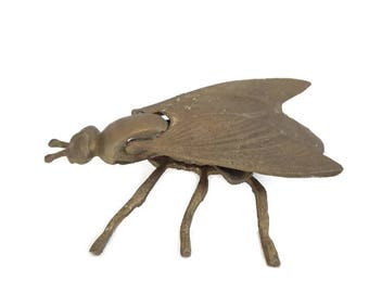 vintage french bronze fly ashtray