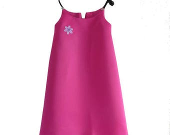 Daughter of pink satin dress, size 5T