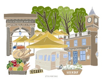 Stockbridge Edinburgh Print