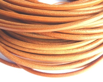 leather cord 5 mm natural PR02800 100 m