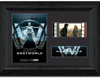 Westworld 35mm Stunning Film Cell display FRAMED Display Cast Signed