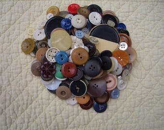 A Collection of Over 200 Buttons...Variety of Colors, Sizes, and Shapes