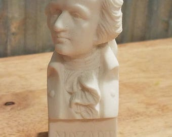 Vintage Mozart Bust The Immortals Classical Composer Chalkware / Plaster 1960's