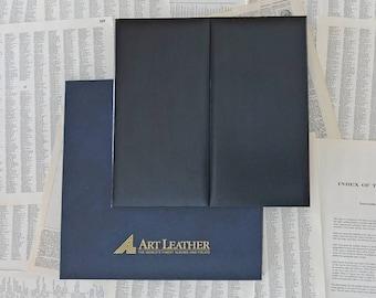 Vintage leather photo album One 10x10 and Four 5x5 Black album photo Art leather