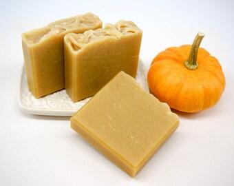 Pumpkin Soap, All-Natural Soap, Moisturizing Soap, Handmade Soap, Essential Oils, Pumpkin Puree,  Orange-Beige Soap, Fall Soap