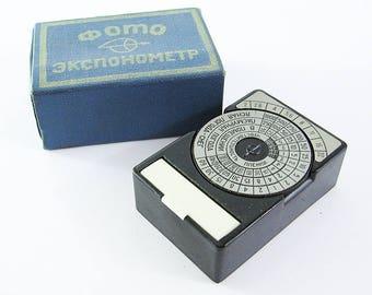 OPTEK Vintage Russian Light Meter BOX
