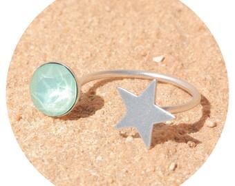 artjany ring mint green silver