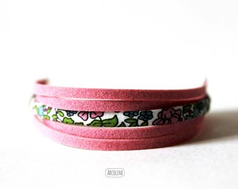 Pink suede ° ° ° Liberty Multi strand bracelet