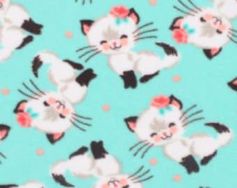 Pretty Kitty ~ No Sew Hand Tied Fleece Blanket