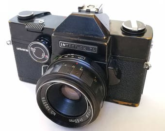 Universa Interflex TL with New Light Seals. Ready-To-Use Vintage 1960s M42 Mount SLR Camera with 55 mm Lens