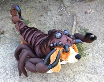 Large/ XLarge Scorpion costume for Dogs by TKC Cozy Pawz