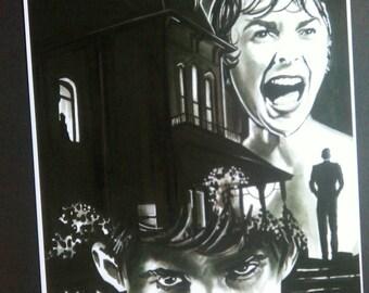 Psycho tribute A4 Art Print
