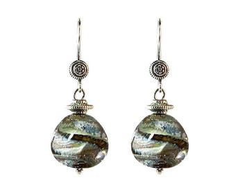 Murano Glass Earrings 'Gaia' Bali Design from Mystery of Venice, Murano Glass Jewelry, Glass Earrings, Gaia Earrings, Earth Earrings