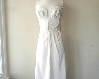 Vintage  bustier Charmode lace white 34A