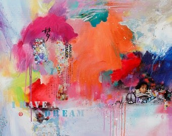 art print,art poster,abstract painting,wall decoration,I have a dream,Limited edition print,personally signed by the artist
