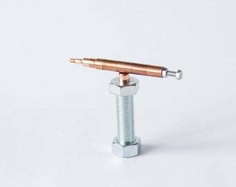 SET 26 copper pen on a holder, souvenir pen, pen for engineer, luxury pen set, customized pen, plumber pen, pen for him, graduation gift