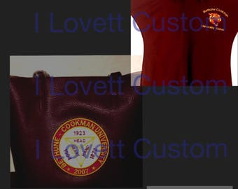 Bethune-cookman university polo and tote bag combo