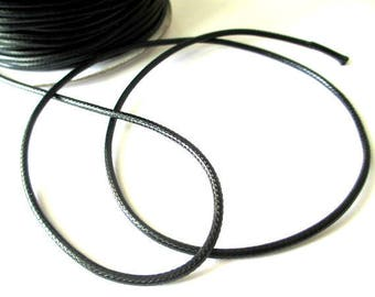10 m cord 2mm waxed polyester thread
