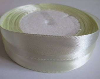 10 m 20mm ecru colored satin ribbon