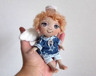 Rag Doll, Angel Doll, textile Doll, Girl Gift, Handmade doll,Gift to a woman, gift to the child