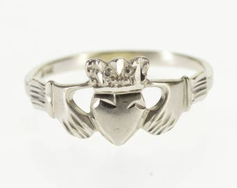 14k Celtic Irish Traditional Claddagh Loyalty Ring Gold