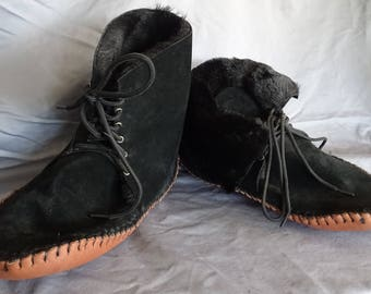 Over Ankle Moccasin Boot Men Sz. 12 Wide Women Sz. 11 Wide