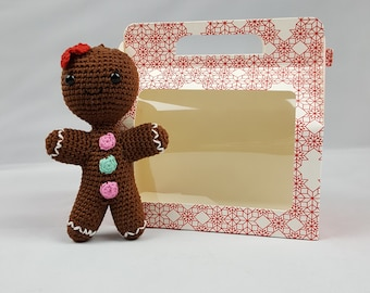 Amigurumi Crochet Craft Kit Gingerbread Man Gingerbread Lady Christmas