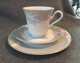 Mikasa tea set cup, saucer, and plate L9049