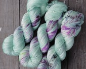 Hand Dyed Silky Merino Lace Yarn - Burpees