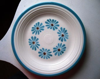 "Fiesta Hawaiian Daisy by Homer Laughlin 10"" Ceramic Dinner Plate Vintage 1960's RARE!"